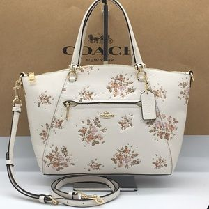 COACH Prairie Satchel With Rose Bouquet Print